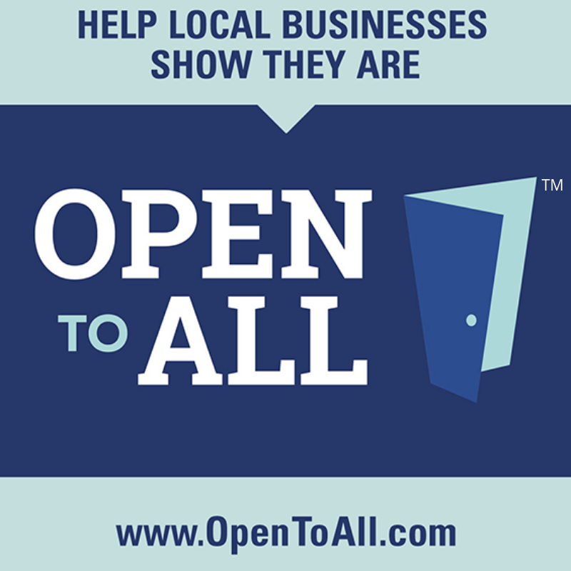 Here's a cool new opportunity to show you are #OpenToAll. To learn more about @OpentoAllofUS and to take the pledge, visit: www.OpenToAll.com/business-pledge
