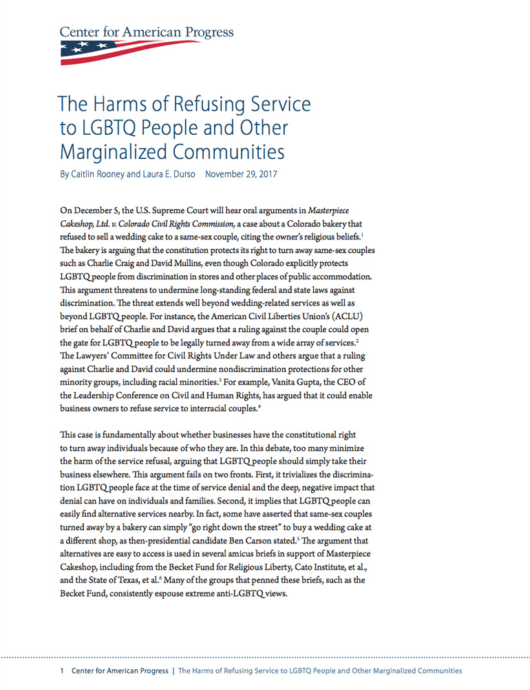 Harms of Refusing Service to LGBTQ People and Other Marginalized Communities article image