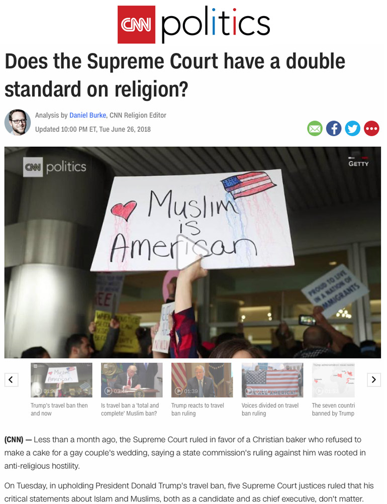 Does the Supreme Court have a double standard on religion?