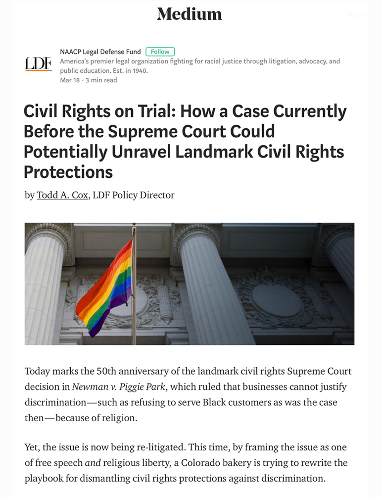 Civil Rights on Trial: How a Case Currently Before the Supreme Court Could Potentially Unravel Landmark Civil Rights Protections