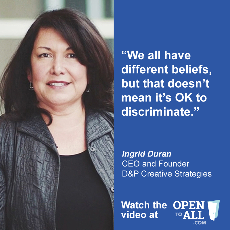 Check out the Open To All campaign to learn more about the importance of our nation's nondiscrimination laws—and the principle that when businesses open their doors to the public, they should be #OpentoAll via @OpentoAllofUS www.OpenToAll.com