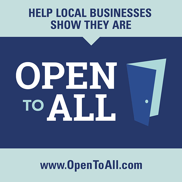 Help local businesses show they are Open to All