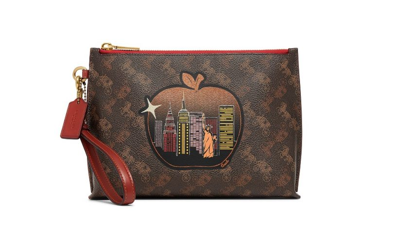 Charlie Pouch In Signature Canvas With Big Apple Skyline