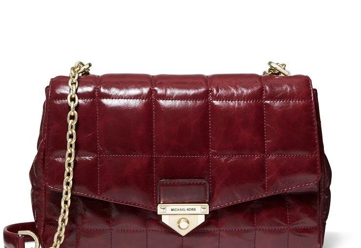 Soho Extra-Large Quilted Crinkled Leather Shoulder Bag