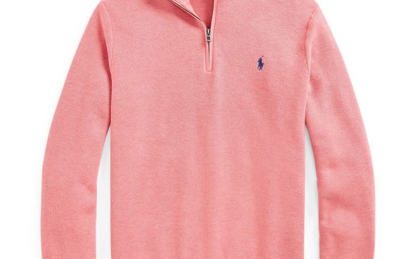Men's Cotton Mesh Quarter-Zip Sweater